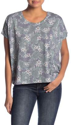 Chaser Boxy Scoop Back Floral Top