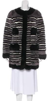 Marc Jacobs Short Fur Coat Black Short Fur Coat