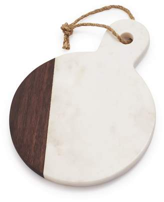 Sur La Table Marble & Walnut Round Cheese Paddle