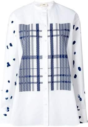Ports 1961 checked panels shirt