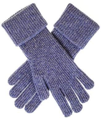 Black Ladies Blue Marl Cashmere Gloves