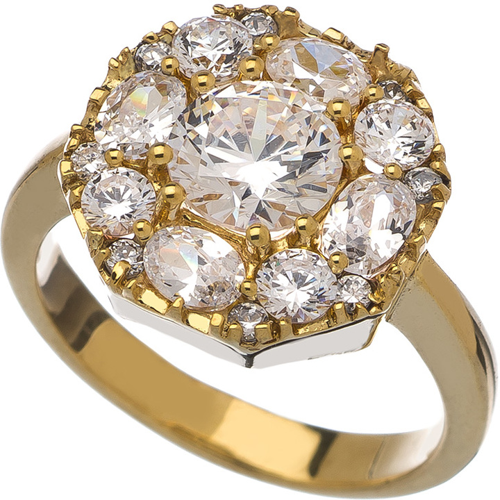 KiraKira Gold Edwardian Ring