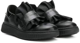 Geox Kids ruffle sneakers