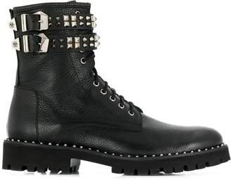Philipp Plein studded combat boots
