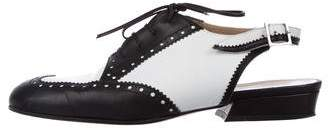 Chanel Brogue Slingback Oxfords