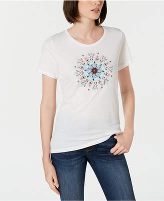 Columbia Cotton Butterfly Medallion Graphic-Print T-Shirt