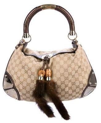 Gucci Indy Mink Tassel Bag