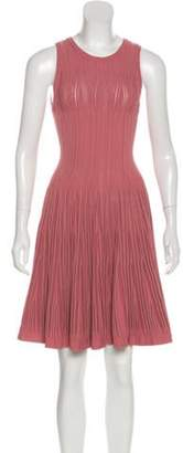 Alaà ̄a Sleeveless Fit & Flare Dress Pink Alaà ̄a Sleeveless Fit & Flare Dress