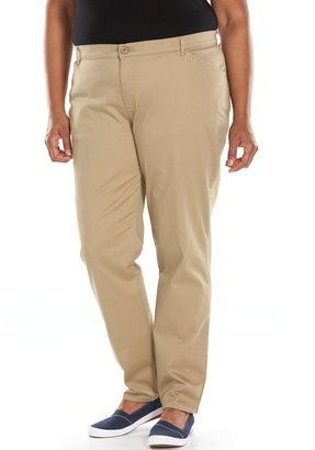 Lee Plus Size Relaxed Fit Straight-Leg Pants