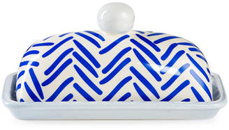Butter Shoes Coton Colors Indigo Herringbone Domed Dish