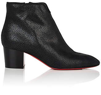 Christian Louboutin Women's Disco 70s Leather Ankle Boots - Black, Black lucido