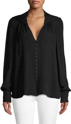Jason Wu Collection Long-Sleeve Silk Button-Down Shirt