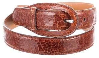 Tod's Embossed Leather Belt