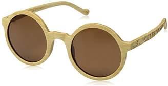 Earth Wood Canary Polarized Round Sunglasses