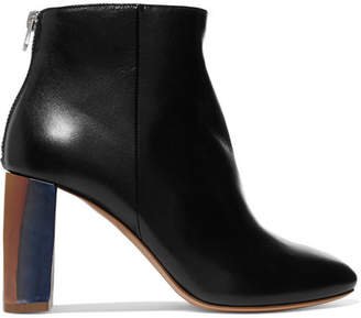 Acne Studios Cliffie Leather Ankle Boots - Black