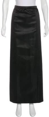 Louis Vuitton Satin Maxi Skirt