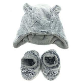 accsa Baby Novelty Cozy Winter Cute Warm Bear Hat Trapper and Boots set for 3-6 months babies