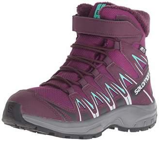 Salomon Unisex Kids' XA PRO 3D Winter TS CSWP J Hiking and Multifuction Shoe, Dark Potent Purple/Atlantis, UK EU