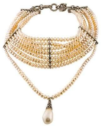 Christian Dior Faux Pearl Choker