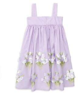 Isabel Garreton Little Girl's Hydrangeas Sundress