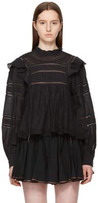 Etoile Isabel Marant Black Lace Vivianna Blouse
