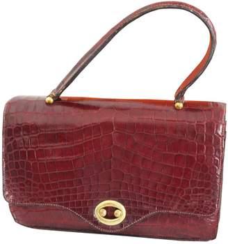 Hermes Vintage Red Exotic leather Handbag