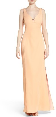 Women's Laundry By Shelli Segal Cutout Crepe Gown $245 thestylecure.com