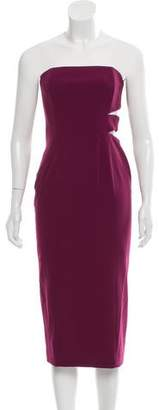 Jay Godfrey Strapless Cutout Dress w/ Tags
