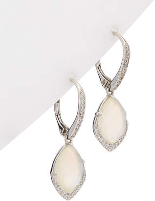 7a2a2ff84 Nadri Rhodium Plated Mother-Of-Pearl & Cz Earrings