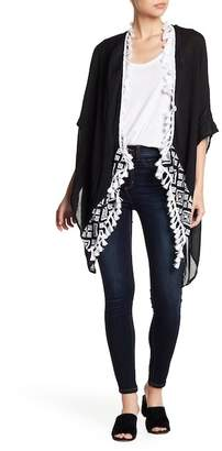 Vince Camuto Embroidered Tassel Tulum Topper