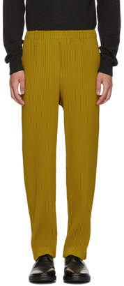 Issey Miyake Homme Plisse Yellow Tailored Pleats Trousers