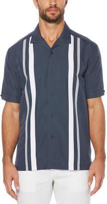 Cubavera Big & Tall Camp Collar Tricolor Panel Shirt