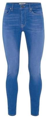 Topman Mens Bright Blue Spray On Jeans
