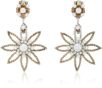Erickson Beamon My One And Only 24K Gold-Plated Crystal And Pearl Earrings