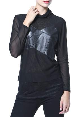 Co Madonna & Leather & Knit Tunic