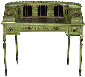 One Kings Lane Vintage Antique Edwardian Carlton House Desk - Vermilion Designs