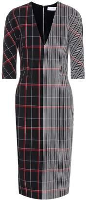 Victoria Beckham Plaid wool-blend dress