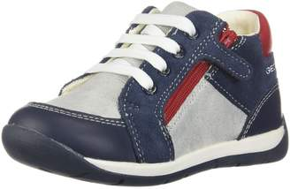 Geox Boy's B RISHON BOY Sneakers, Navy/Grey