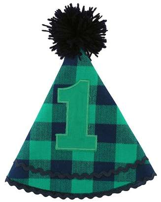 Buffalo David Bitton RuggedButts Navy & Emerald Plaid Birthday Hat (Baby Boys)