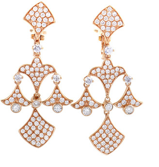 Diamond Select Cuts 18K Rose Gold 2.31 Ct. Tw. Diamond Chandelier Earrings