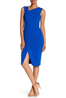 Rachel Roy Crepe Back Scuba Midi Dress