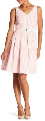 Nine West Lily Striped Seersucker Dress