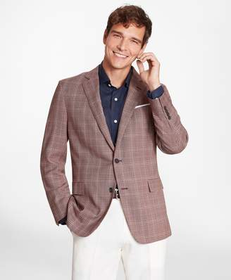 Brooks Brothers Regent Fit Rust with Tan Check Sport Coat