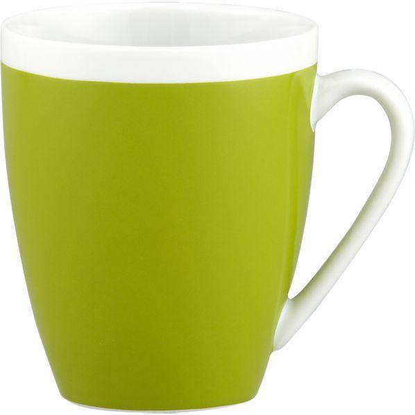 Crate & Barrel Light Green Mug