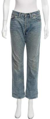 Co RRL & Mid-Rise Straight-Leg Jeans