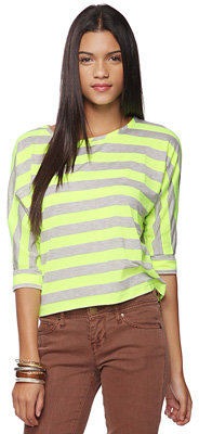 Forever 21 Bright Stripes Dolman Top