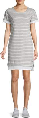 Andrew Marc Striped Cotton Shift Dress