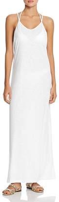 Pitusa Pom-Pom Necklace Maxi Dress Swim Cover-Up