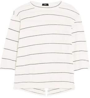 Bassike Split-Back Striped Organic Cotton-Jersey Top