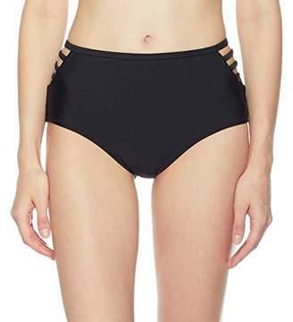 Ocean Blues Women's Strappy Side High Waisted Bikini Bottom Size